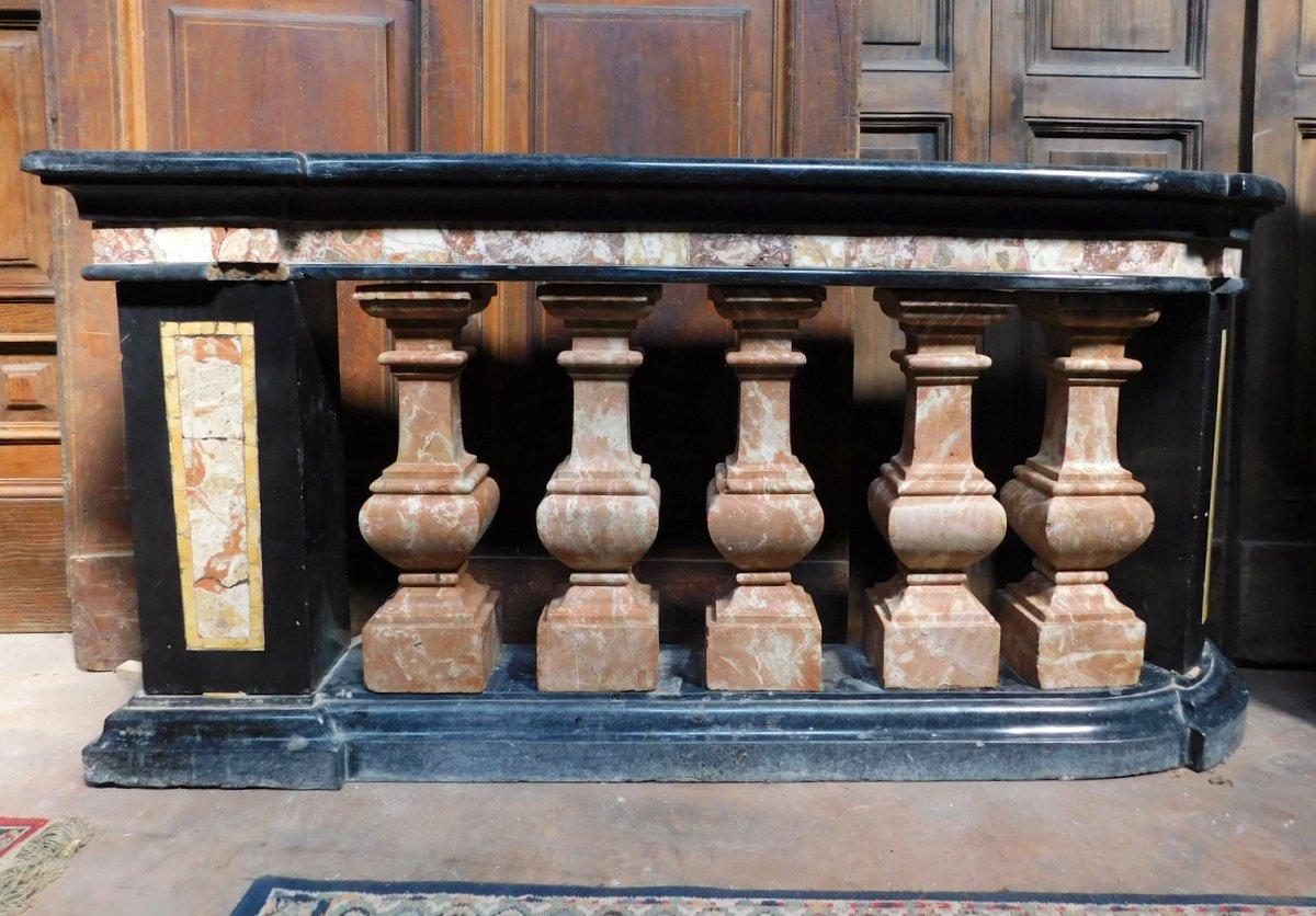 thumb6|dars400 - coppia di balaustre in marmo, cm l 158 x h 78 x p. 35