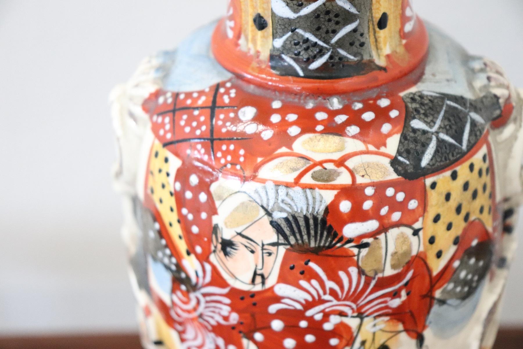 thumb2|Vaso antico satsuma Giappone in ceramica dipinto a mano PREZZO TRATTABILE