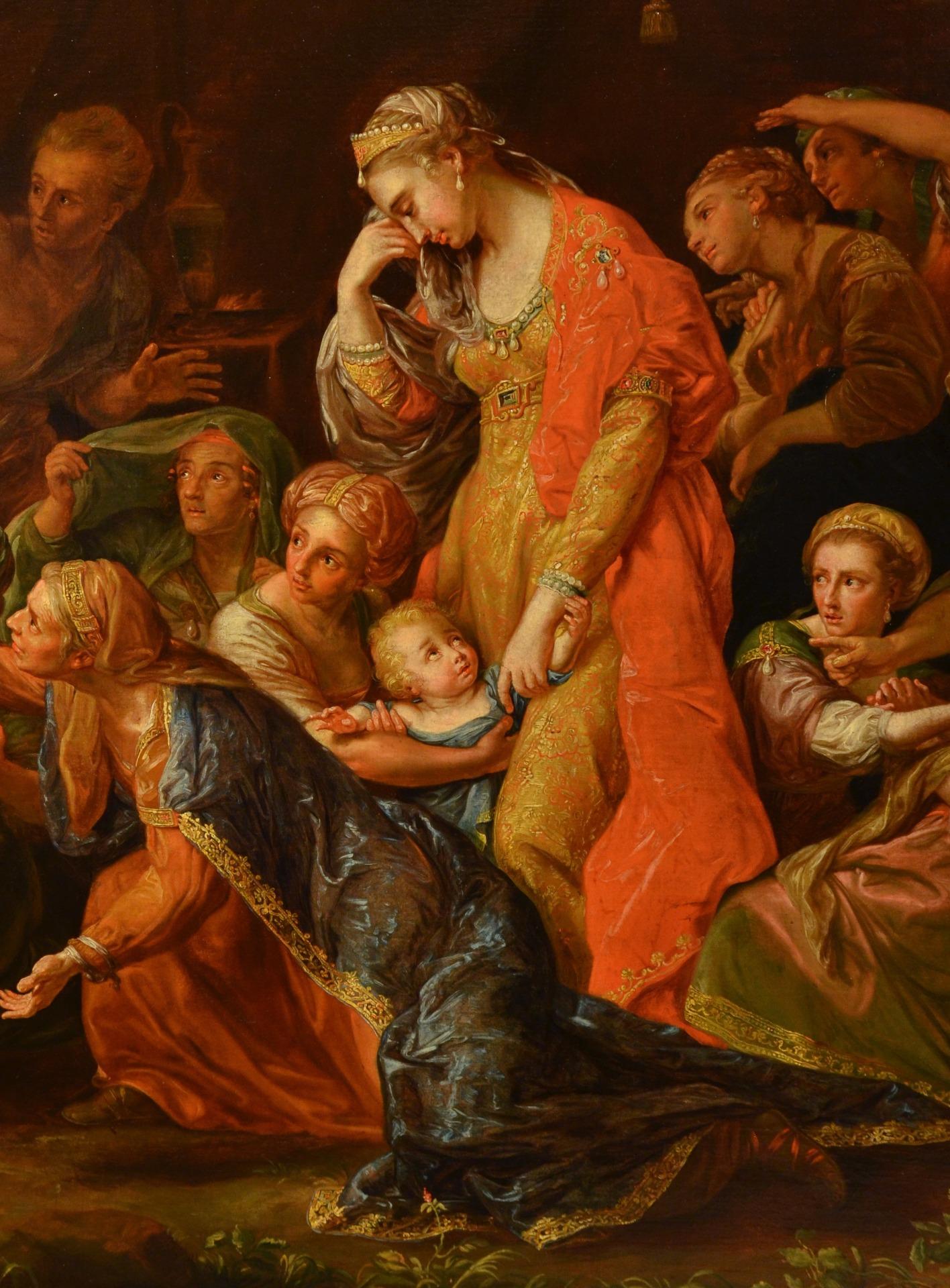 thumb5|Alessandro Magno visita la famiglia di Dario, Pompeo Girolamo Batoni (Lucca 1708 – Roma 1787) e bottega (VENDUTO)