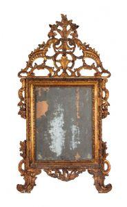 Specchiera intagliata e dorata. Firenze Sec XVIII