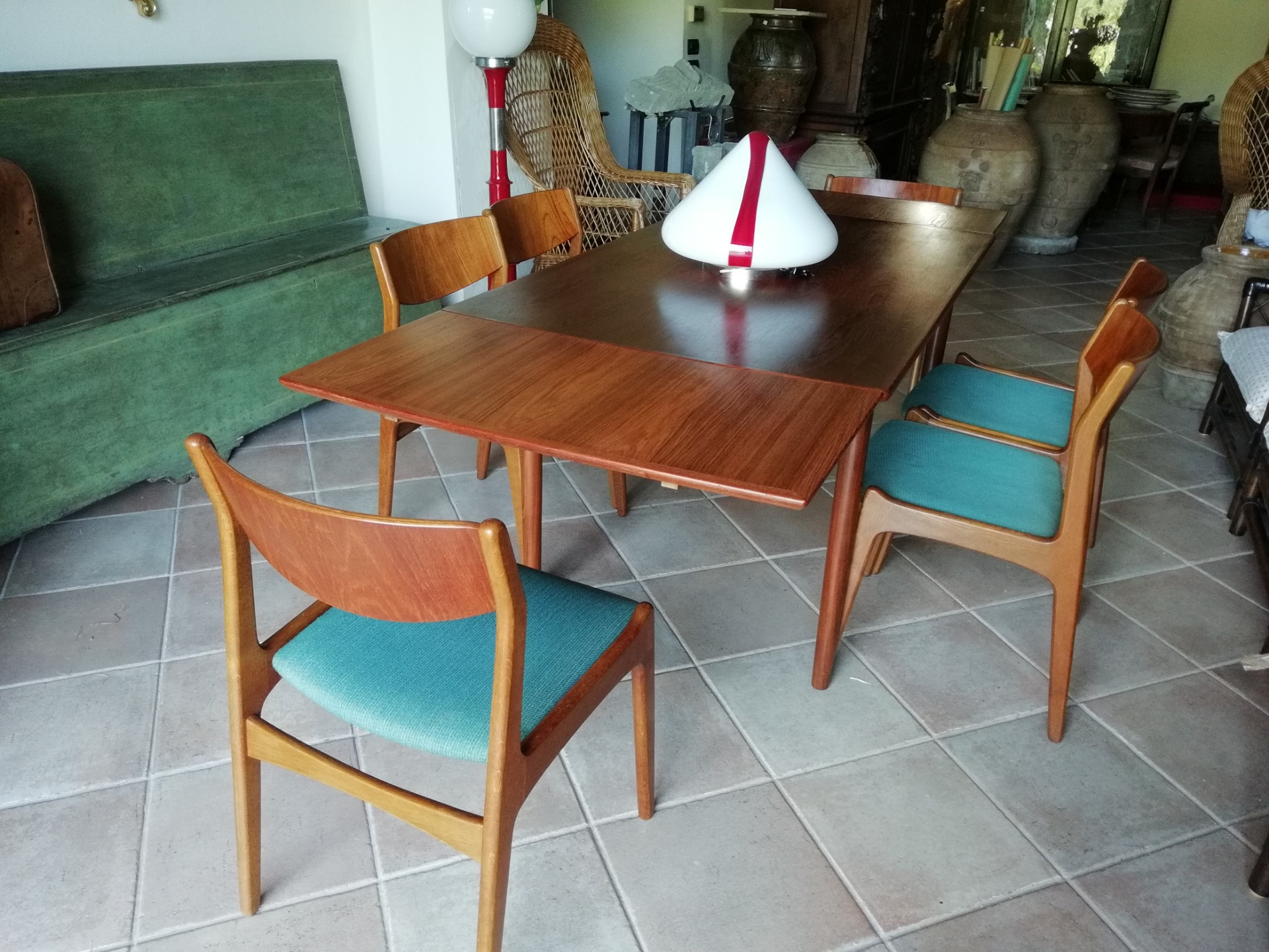 Tavolo Allungabile 6 Sedie.Very Elegant Extensible Wooden Table With 6 Chairs In Very Good