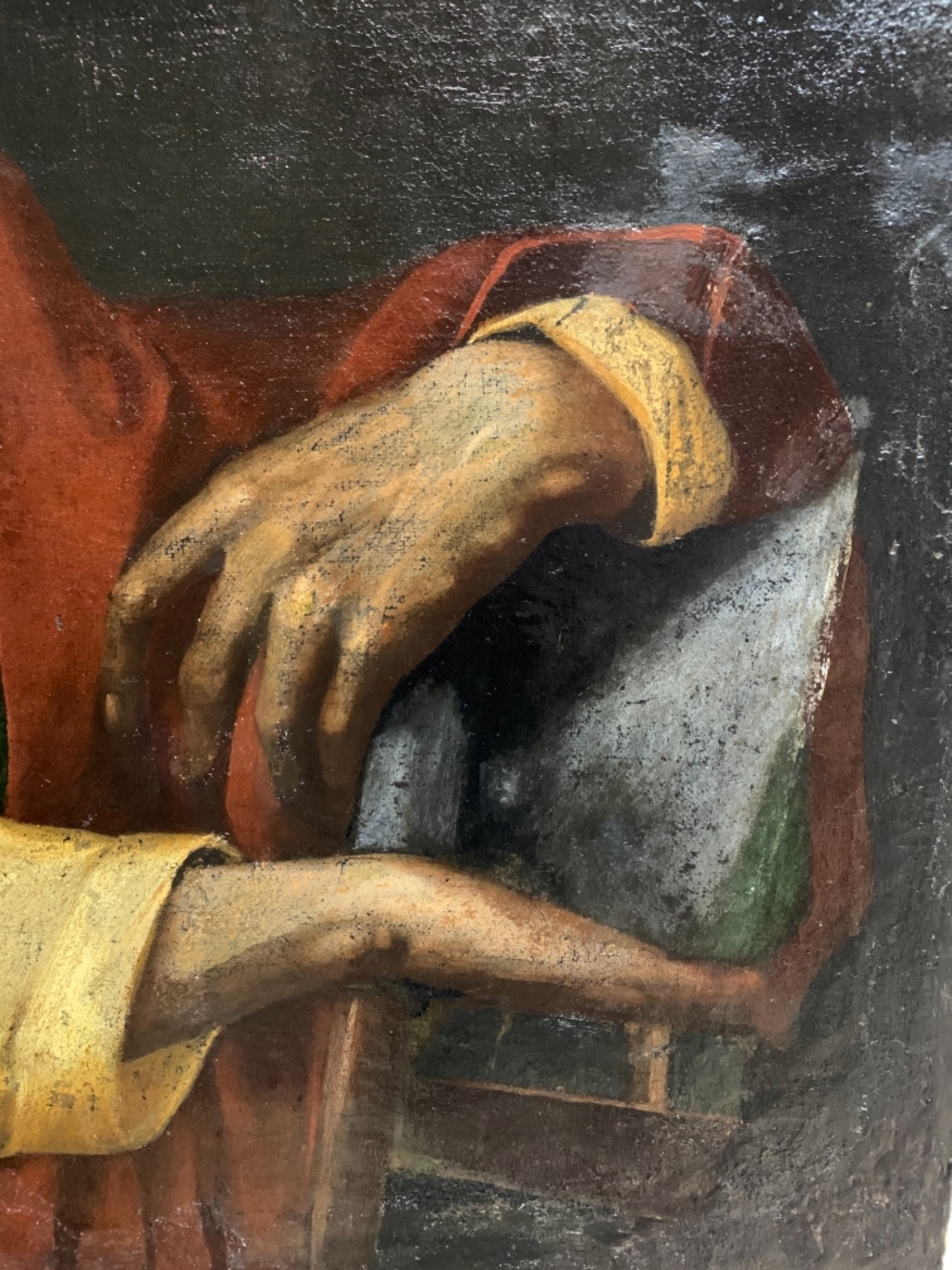 thumb7 Giuda Taddeo Apostolo - Scuola lombarda XVII secolo . Cm 77 x62