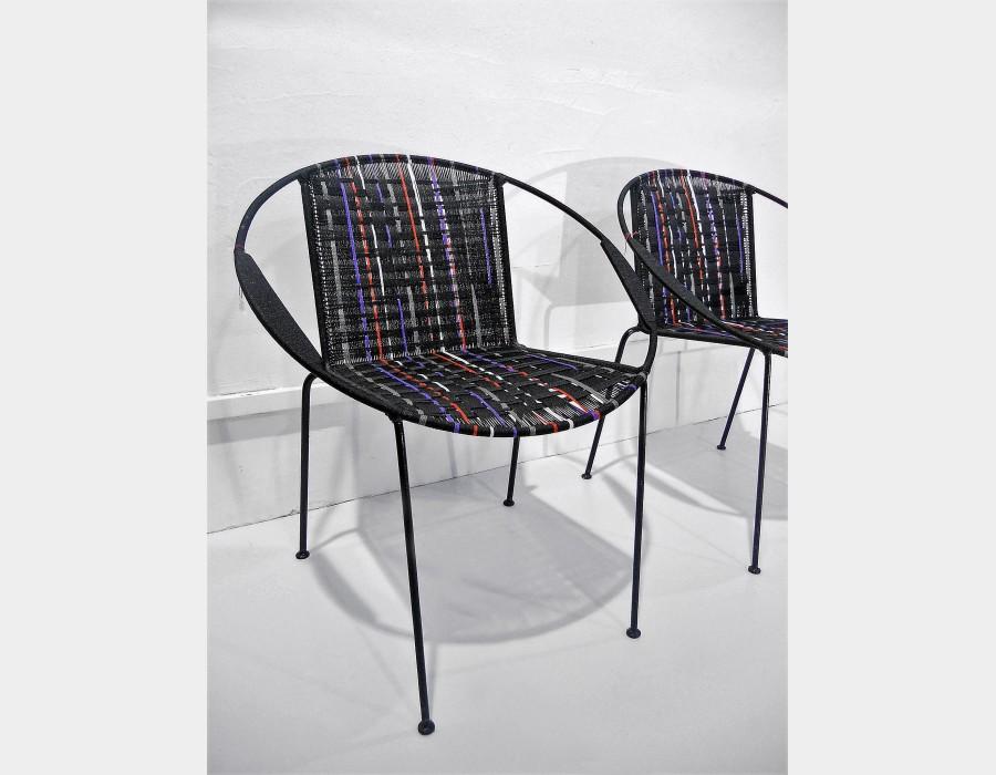 thumb2|Sedia in ferro, seduta e schienale intrecciato Art 1707A