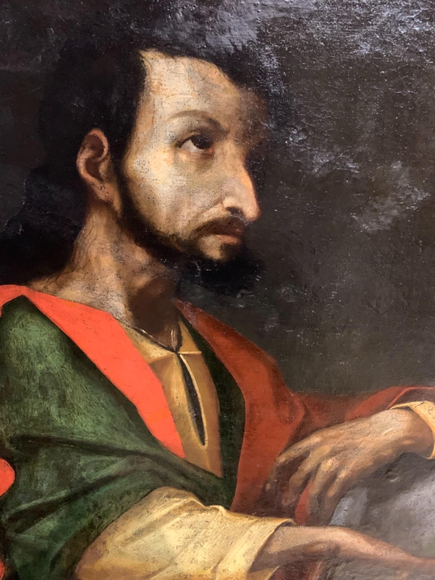 thumb8 Giuda Taddeo Apostolo - Scuola lombarda XVII secolo . Cm 77 x62