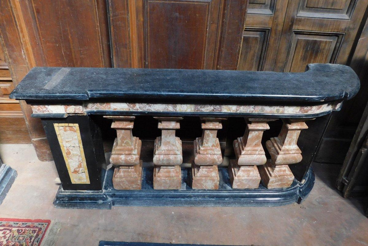 thumb5|dars400 - coppia di balaustre in marmo, cm l 158 x h 78 x p. 35