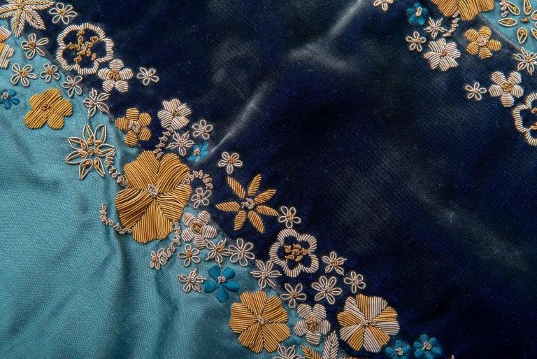 thumb3|Coppia di ricami in canuttiglia su velluto e seta - B/1828