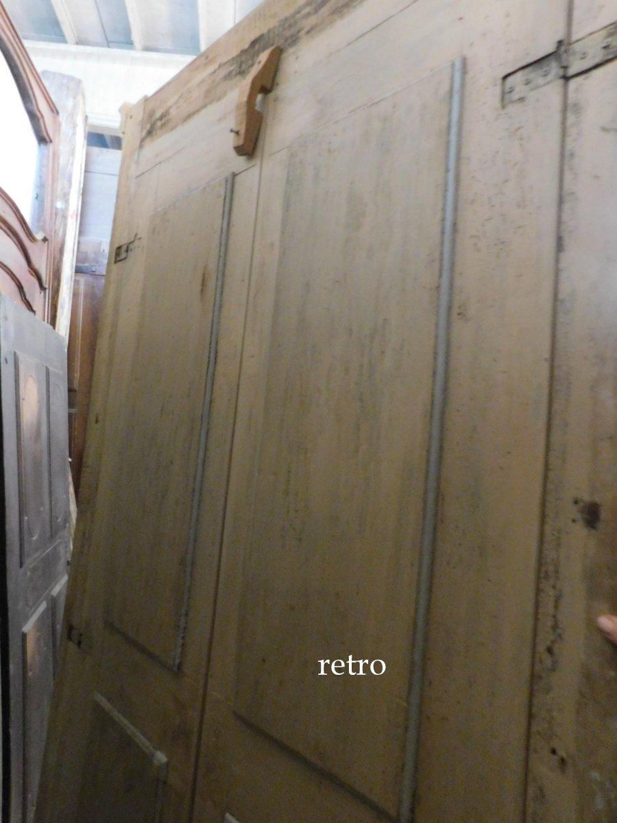 thumb4|pts687 - coppia di porte laccate con telaio, cm l 117 x h 232