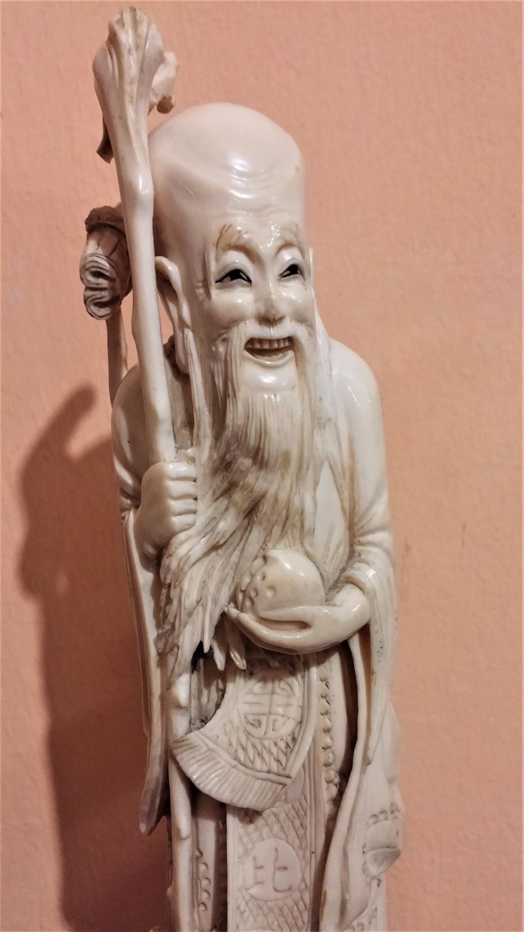 thumb2|Statuetta in avorio, saggio orientale, fine '800