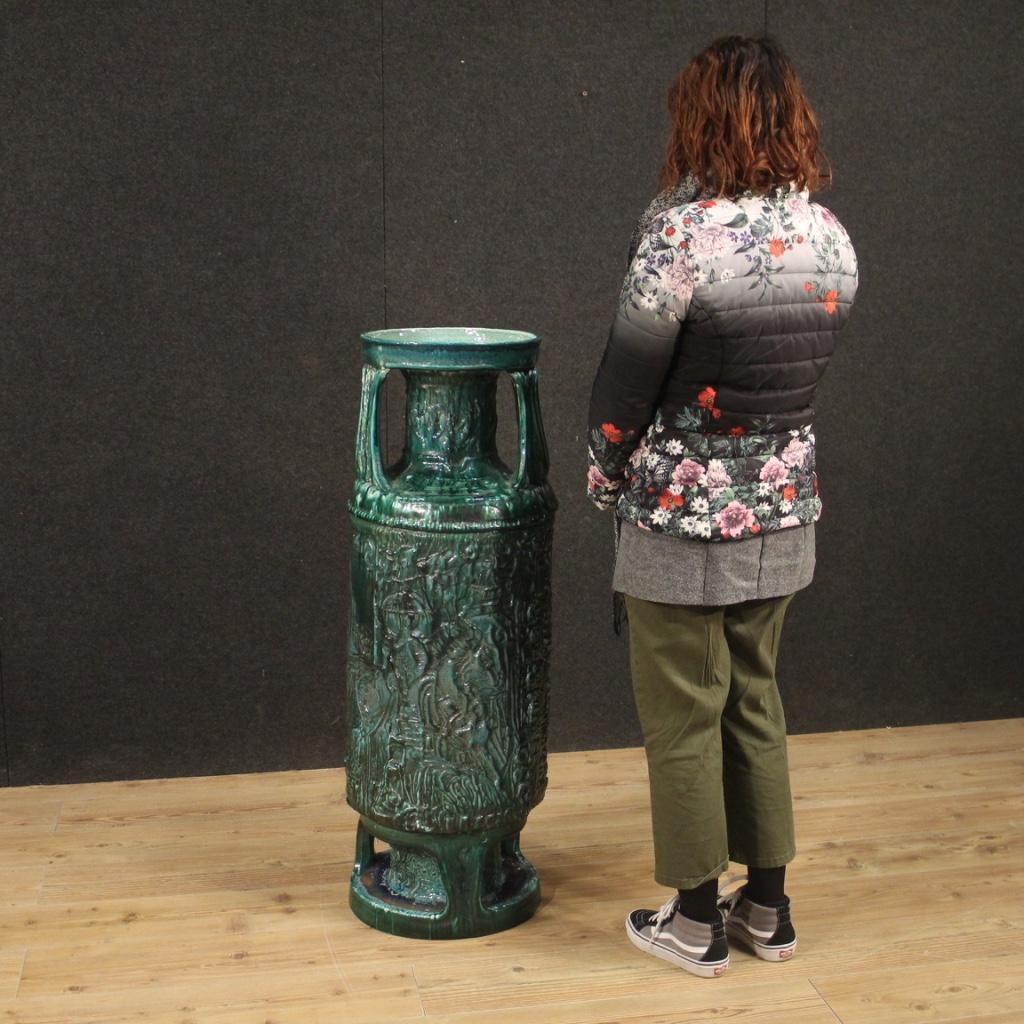 thumb8|Vaso italiano in terracotta smaltata verde