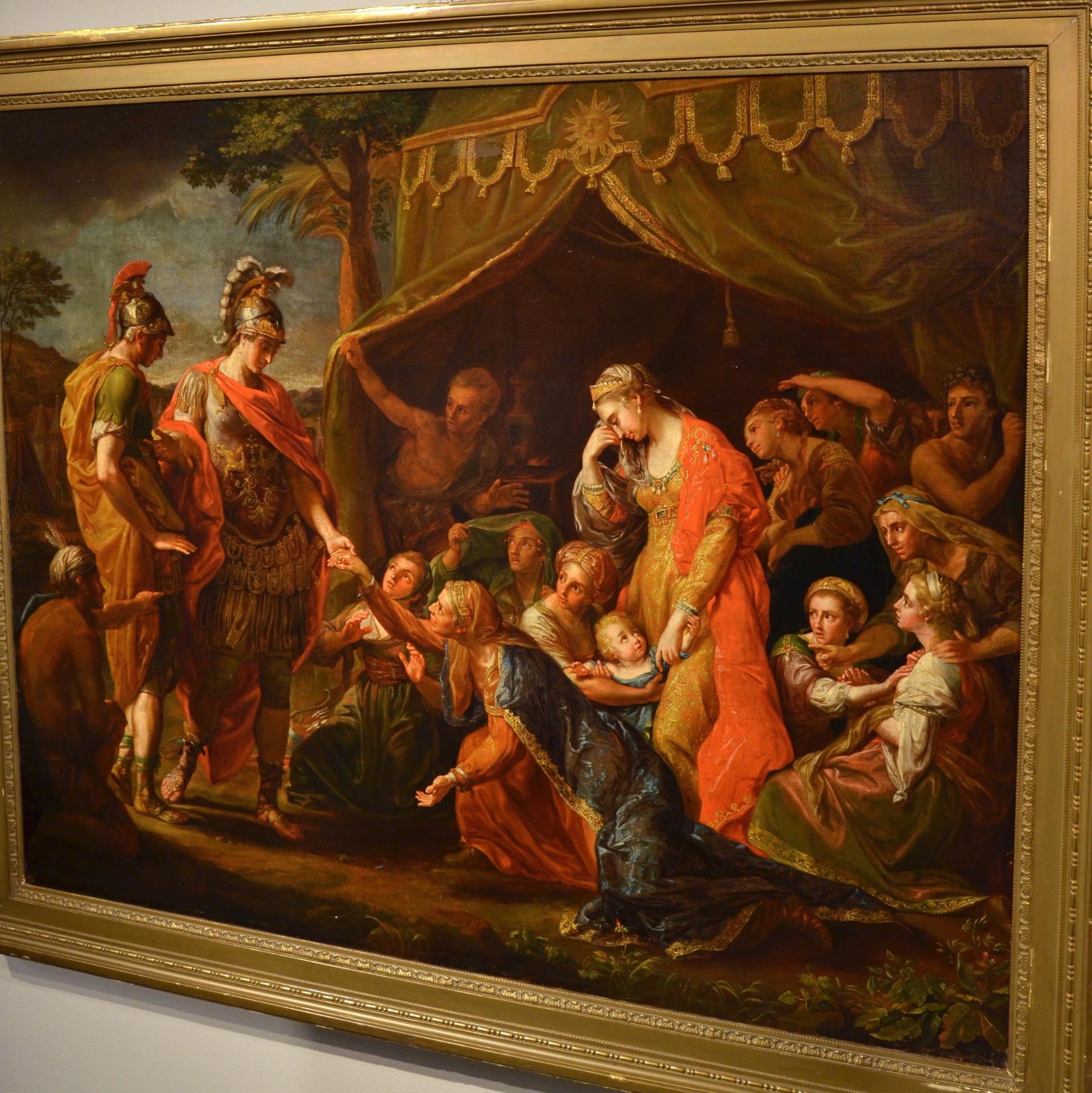 thumb3|Alessandro Magno visita la famiglia di Dario, Pompeo Girolamo Batoni (Lucca 1708 – Roma 1787) e bottega (VENDUTO)