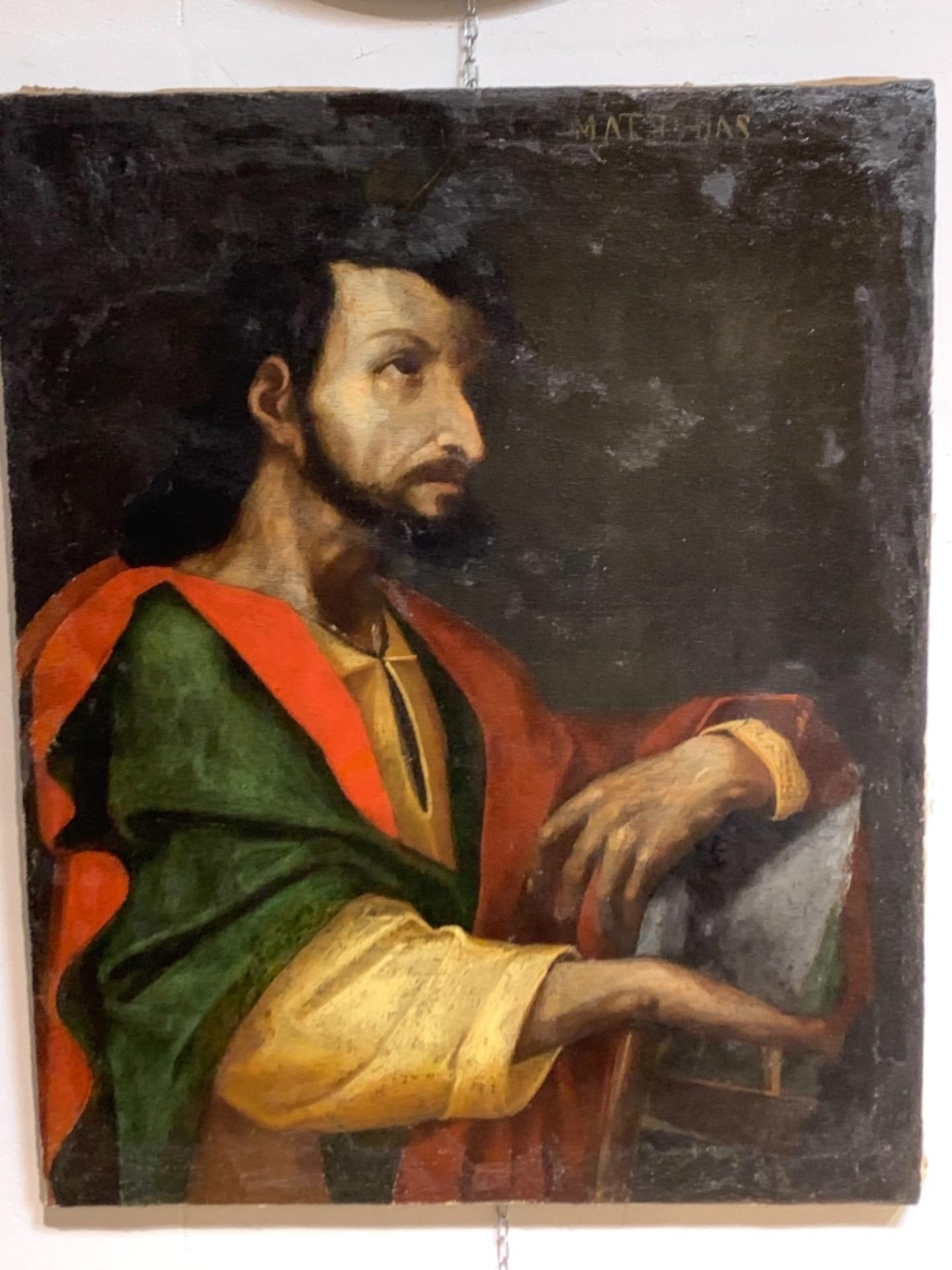 thumb2 Giuda Taddeo Apostolo - Scuola lombarda XVII secolo . Cm 77 x62