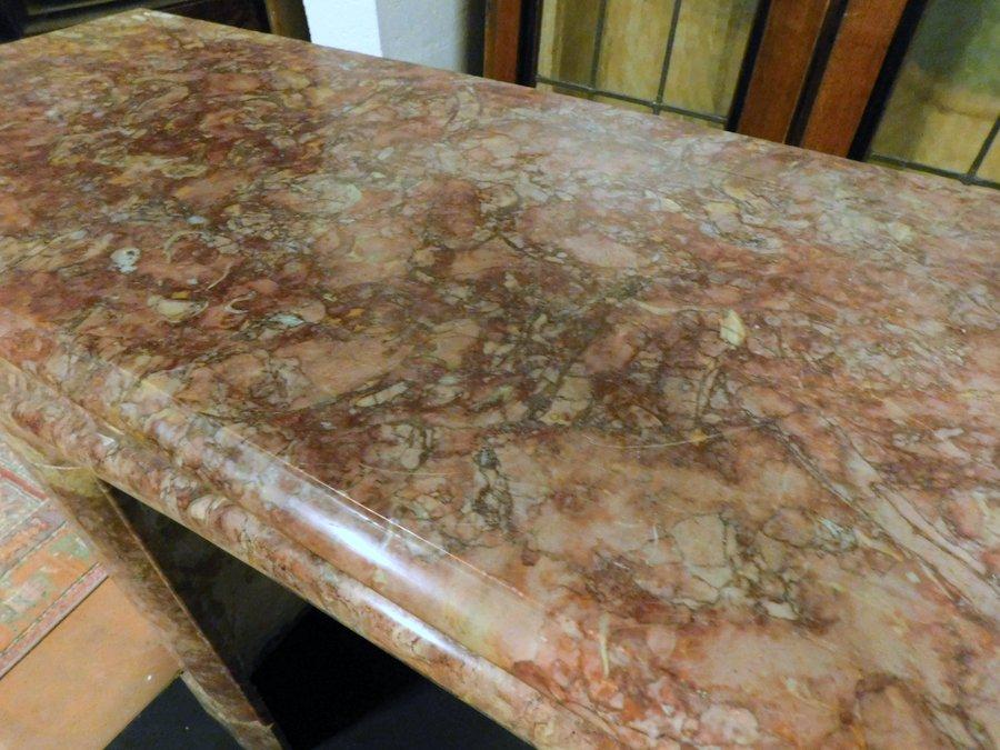 thumb3|chm623 - camino in marmo rosa/rosso, cm l 135 x h 108
