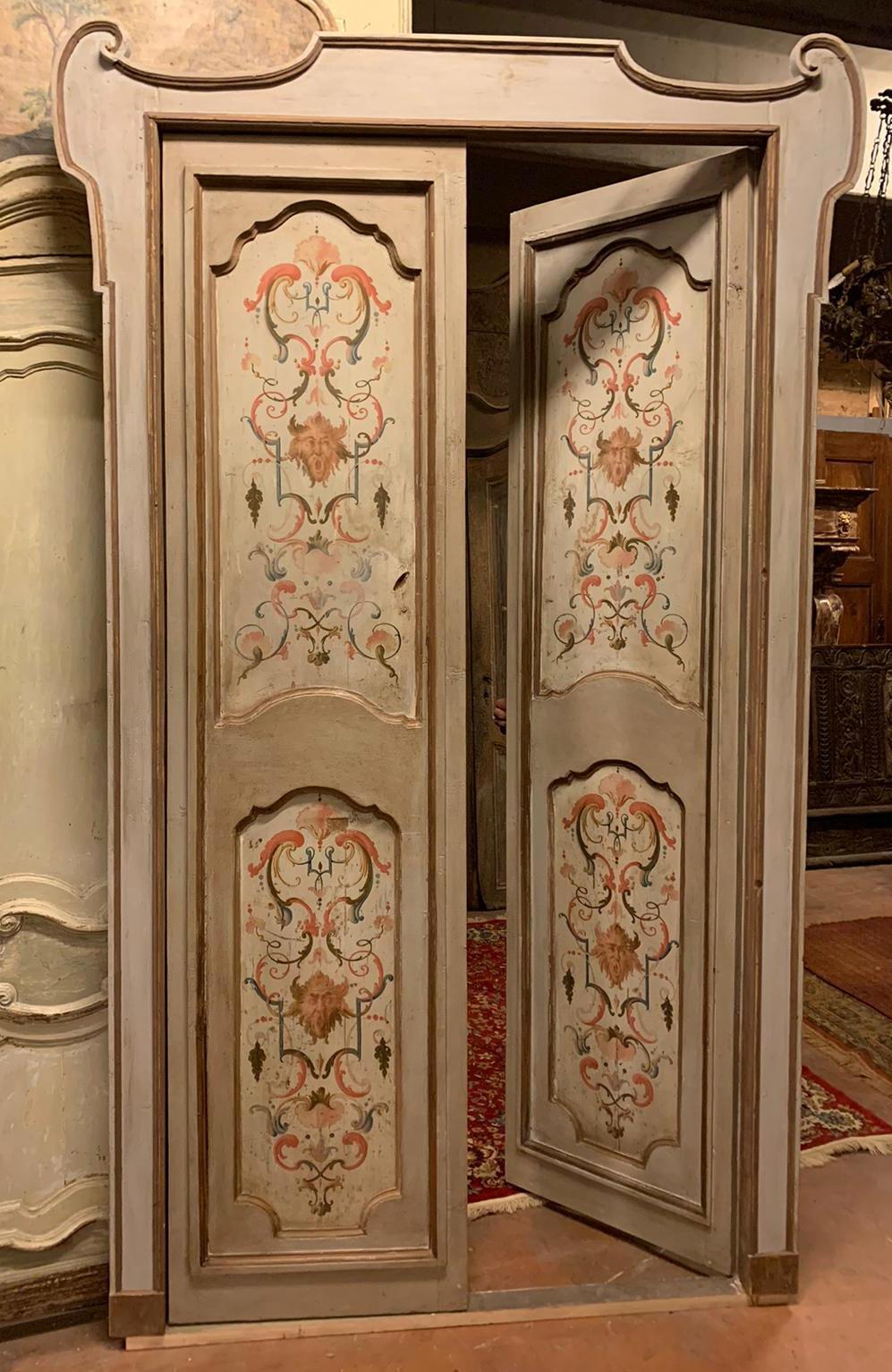 thumb2|pts742 - coppia di porte complete di telaio, ep. '700, mis. l 140/142 x h 253