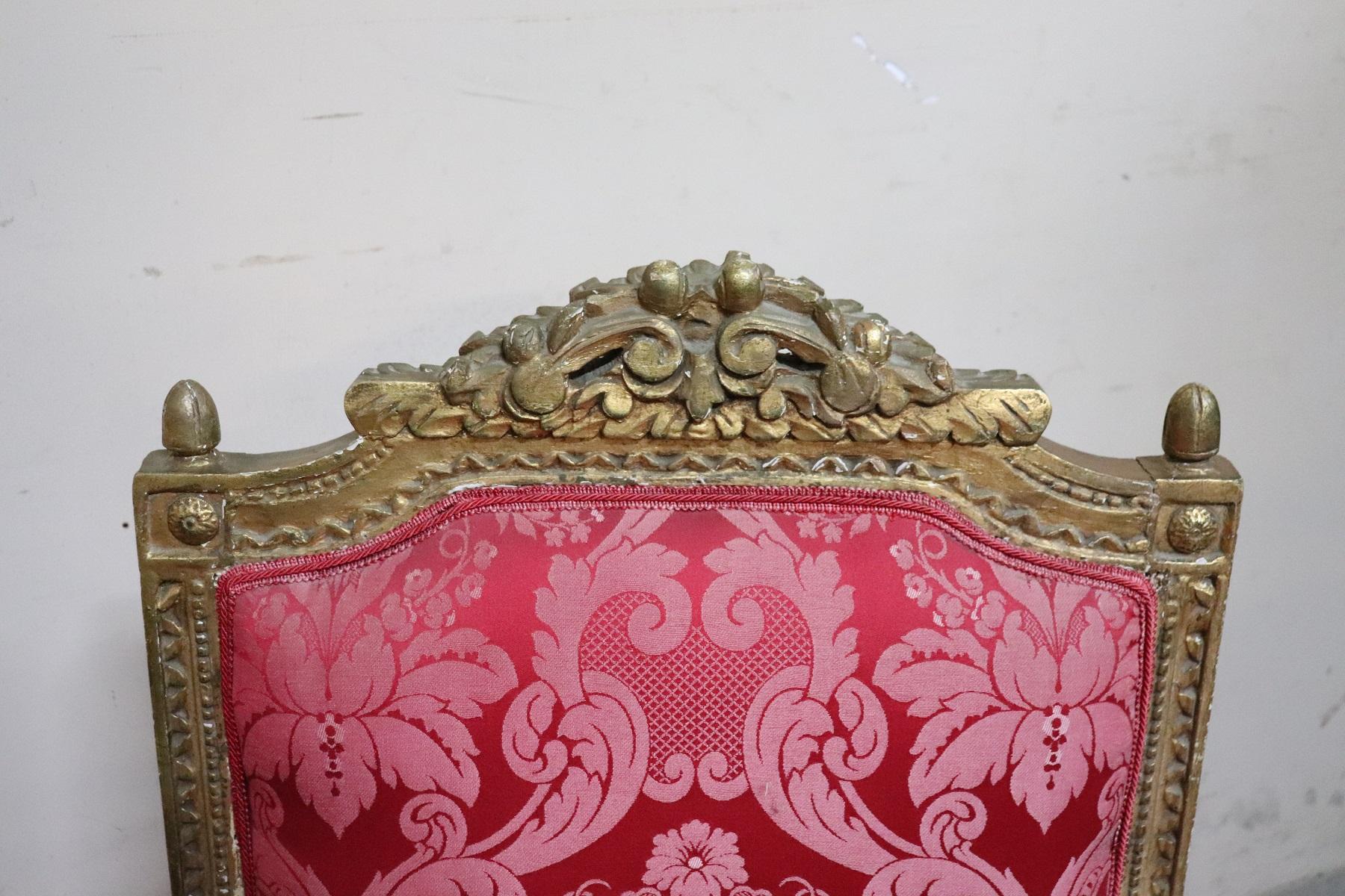 thumb6|Coppia di poltrone in stile antico Luigi XVI legno intagliato e dorato PREZZO TRATTABILE