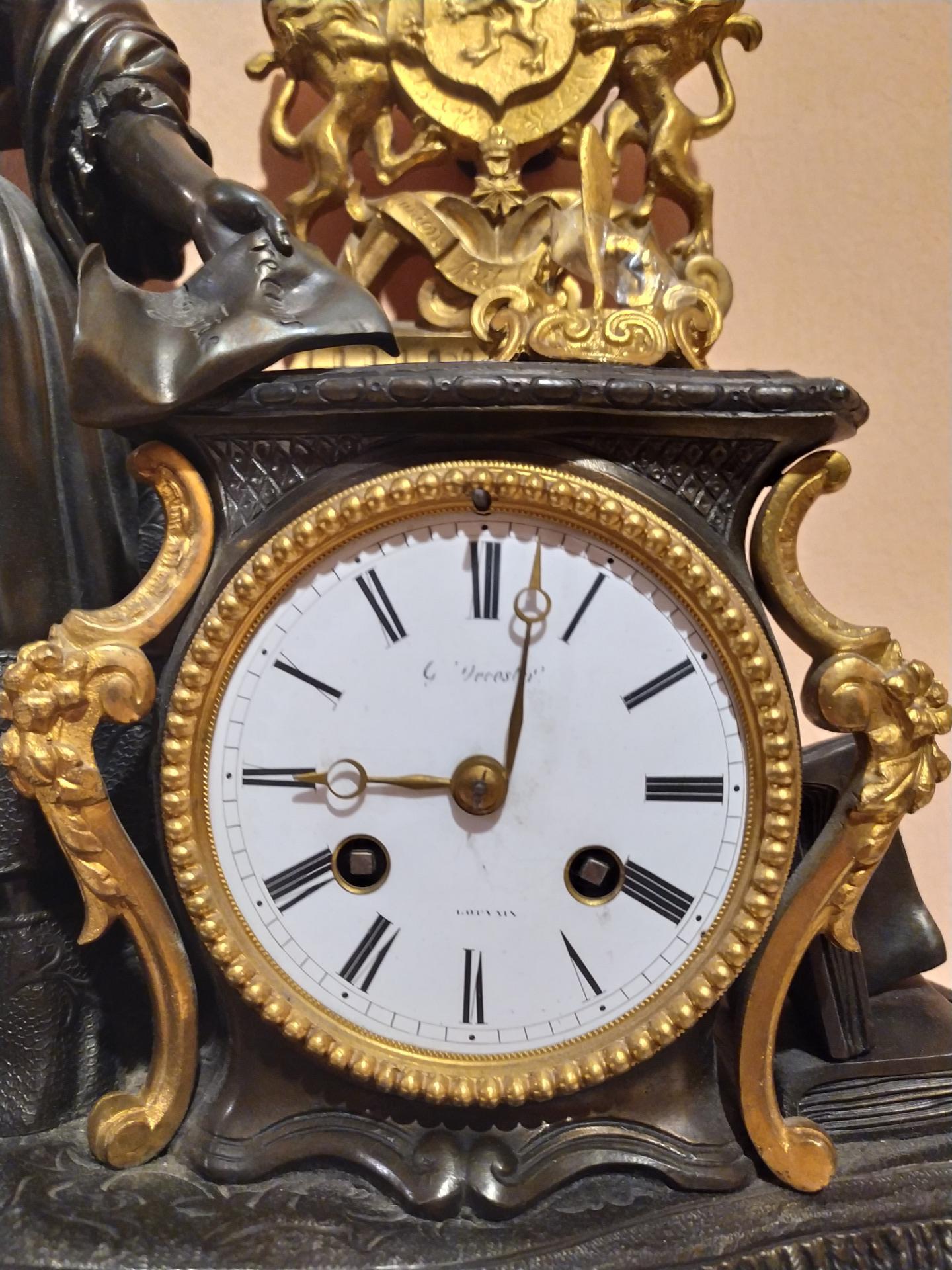 thumb5|Orologio in bronzo epoca Napoleone III