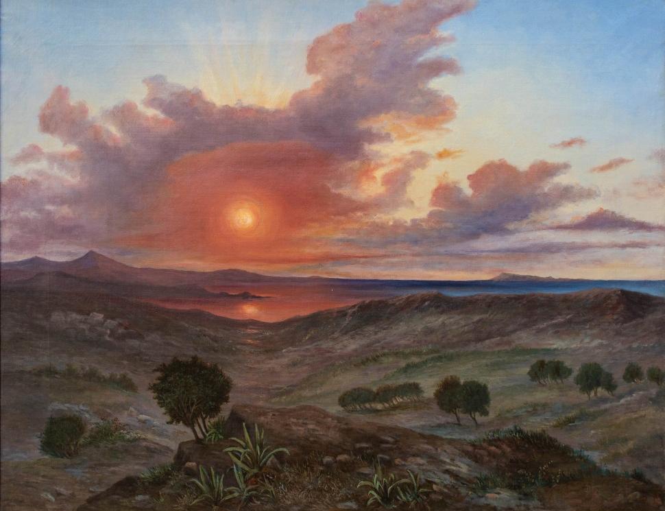 Paesaggio al tramonto, XIX secolo
