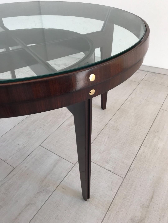 Bellissimo tavolo anni 50 design in mogano e palissandro (vetro e ...