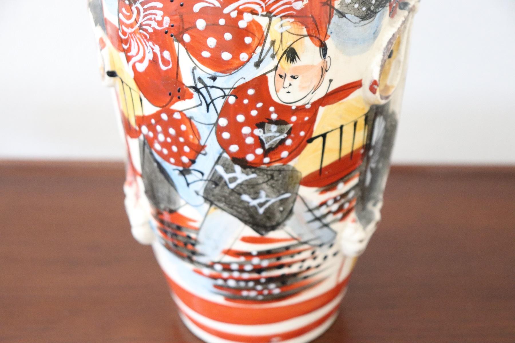 thumb3|Vaso antico satsuma Giappone in ceramica dipinto a mano PREZZO TRATTABILE