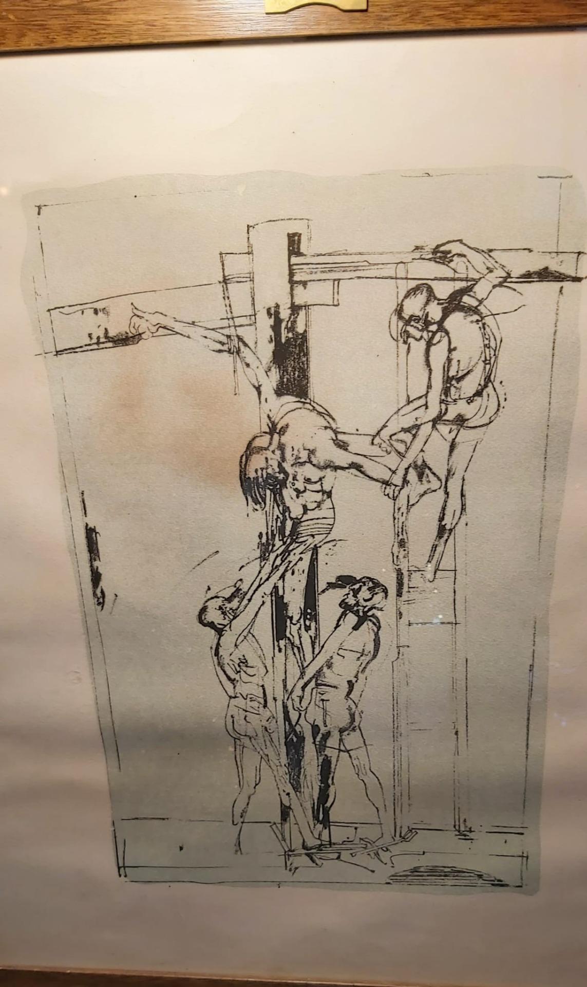 Litografia deposizione Cristo