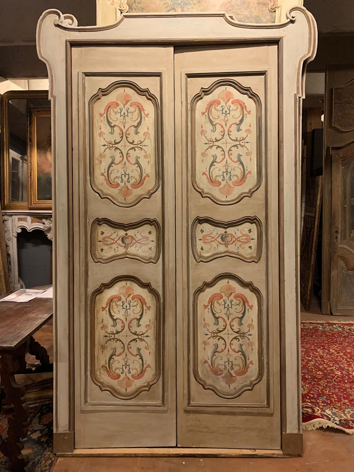 thumb4|pts742 - coppia di porte complete di telaio, ep. '700, mis. l 140/142 x h 253