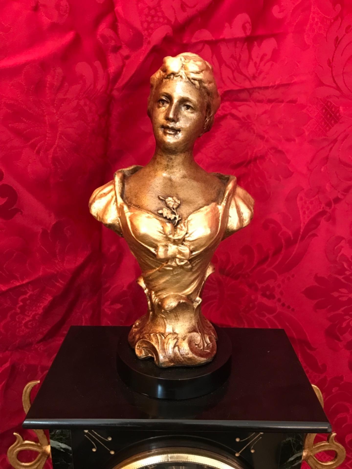 thumb3|Orologio a pendolo con scultura firmata Mestais