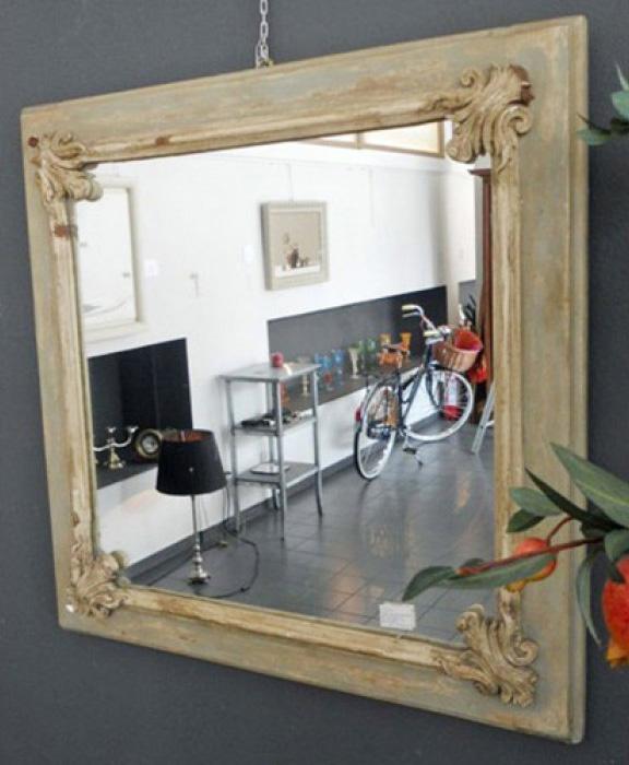 Specchio Legno Decapato.Specchio Provenzale In Legno Decapato Art 5900