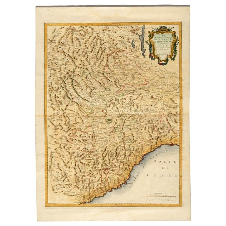 thumb6 Carta geografica di Monaco del 1780 - rif. ST/609