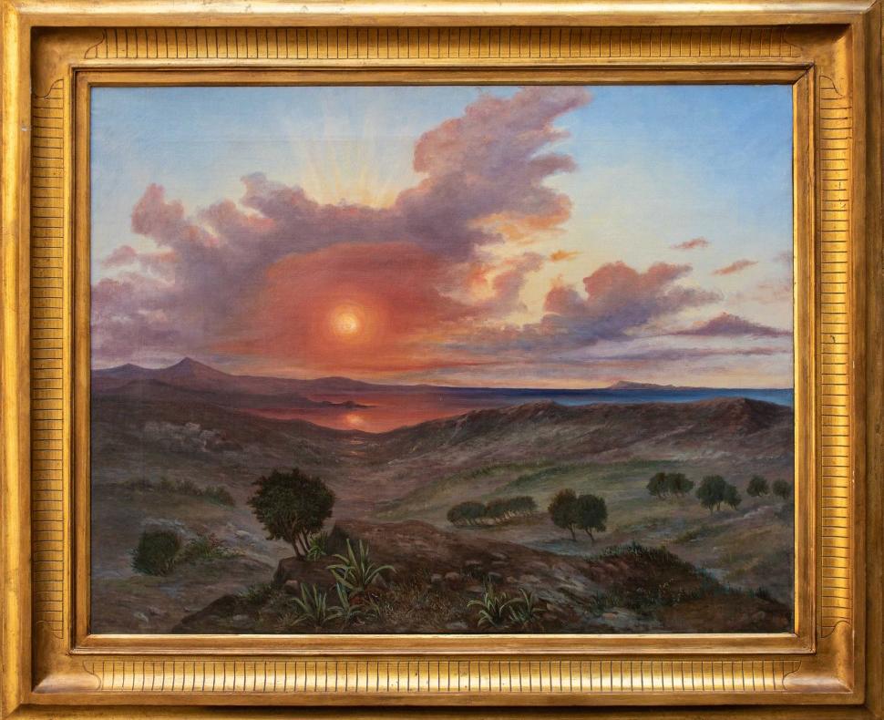 thumb2 Paesaggio al tramonto, XIX secolo