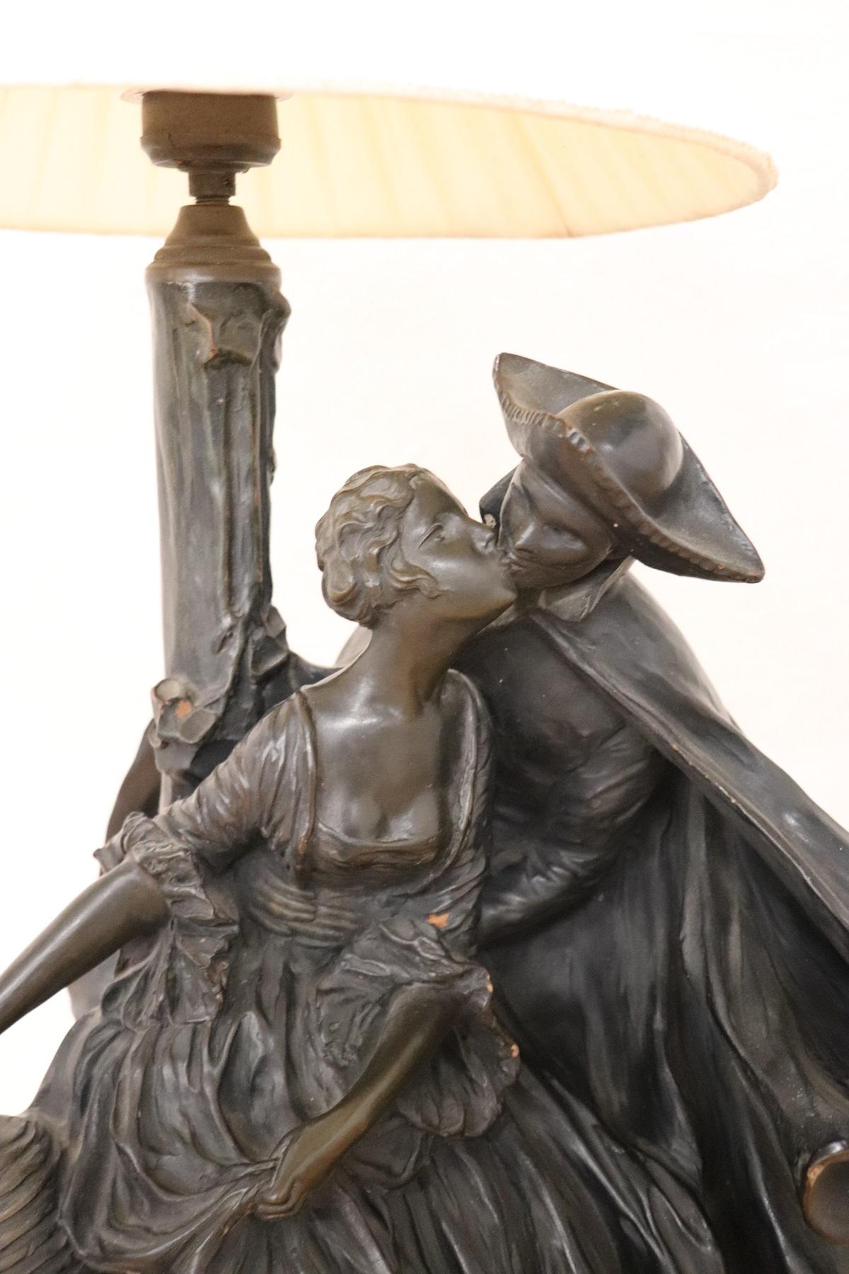 Grande Lampada Da Tavolo Art Nouveau Con Scultura In Terracotta Prezzo Trattabile Antiquariato Su Anticoantico