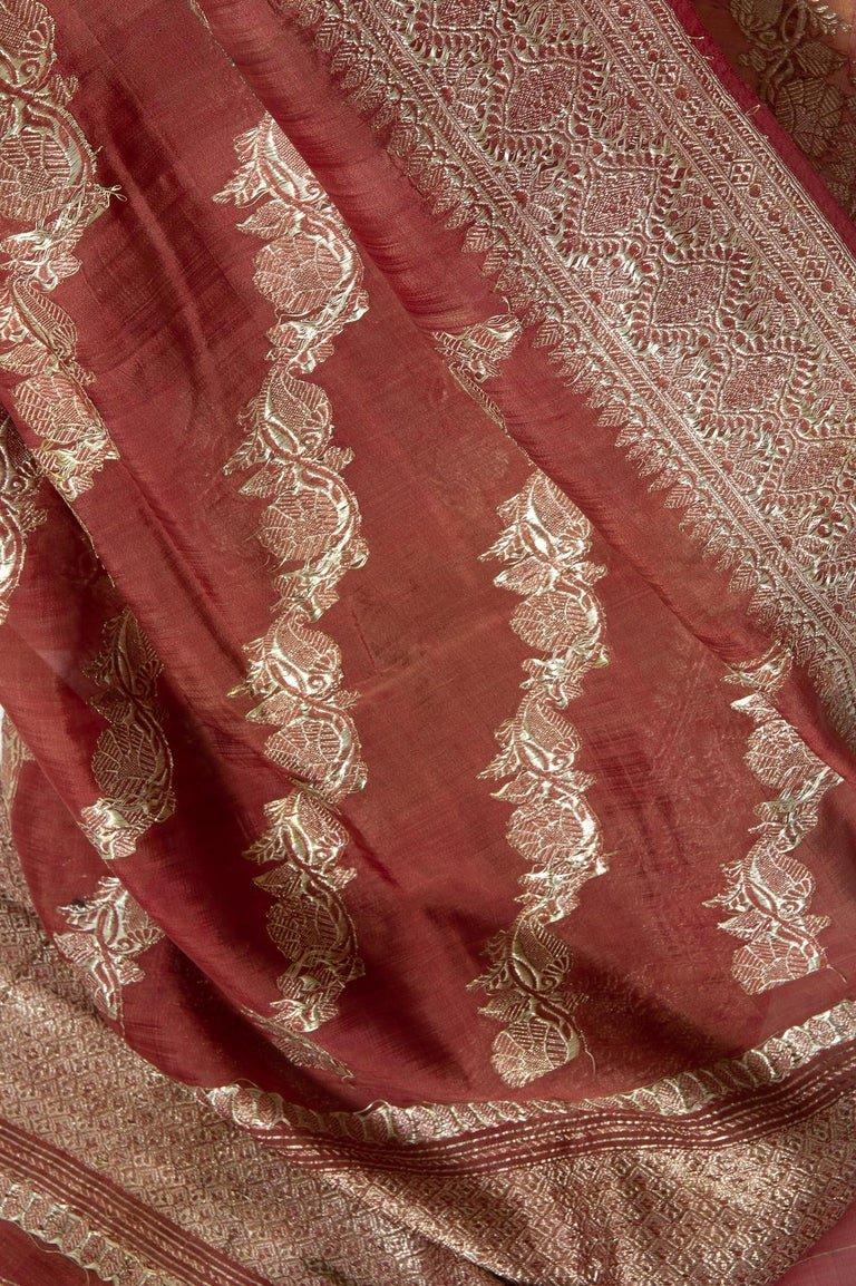 thumb2|Antico Sari indiano color malva