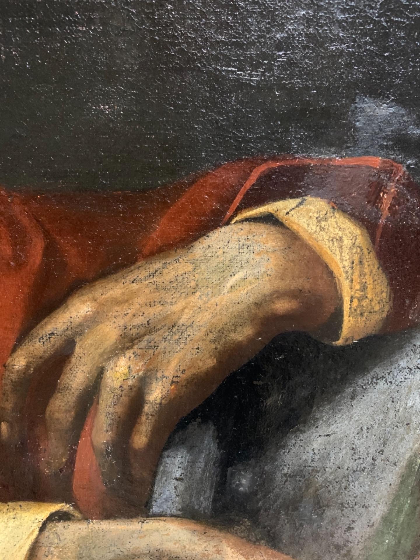 thumb10 Giuda Taddeo Apostolo - Scuola lombarda XVII secolo . Cm 77 x62
