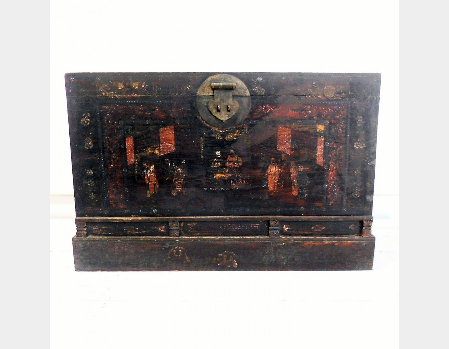 thumb3 Baule in legno di olmo antica pechino Art 3352A