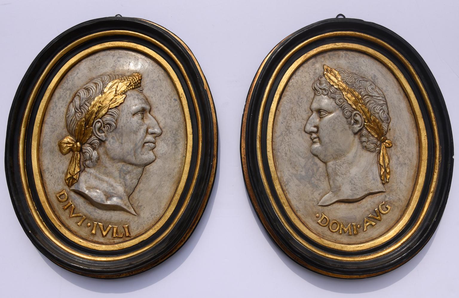 Ovali In Gesso.Coppia Di Ovali In Gesso Stile Impero Antiquariato Su