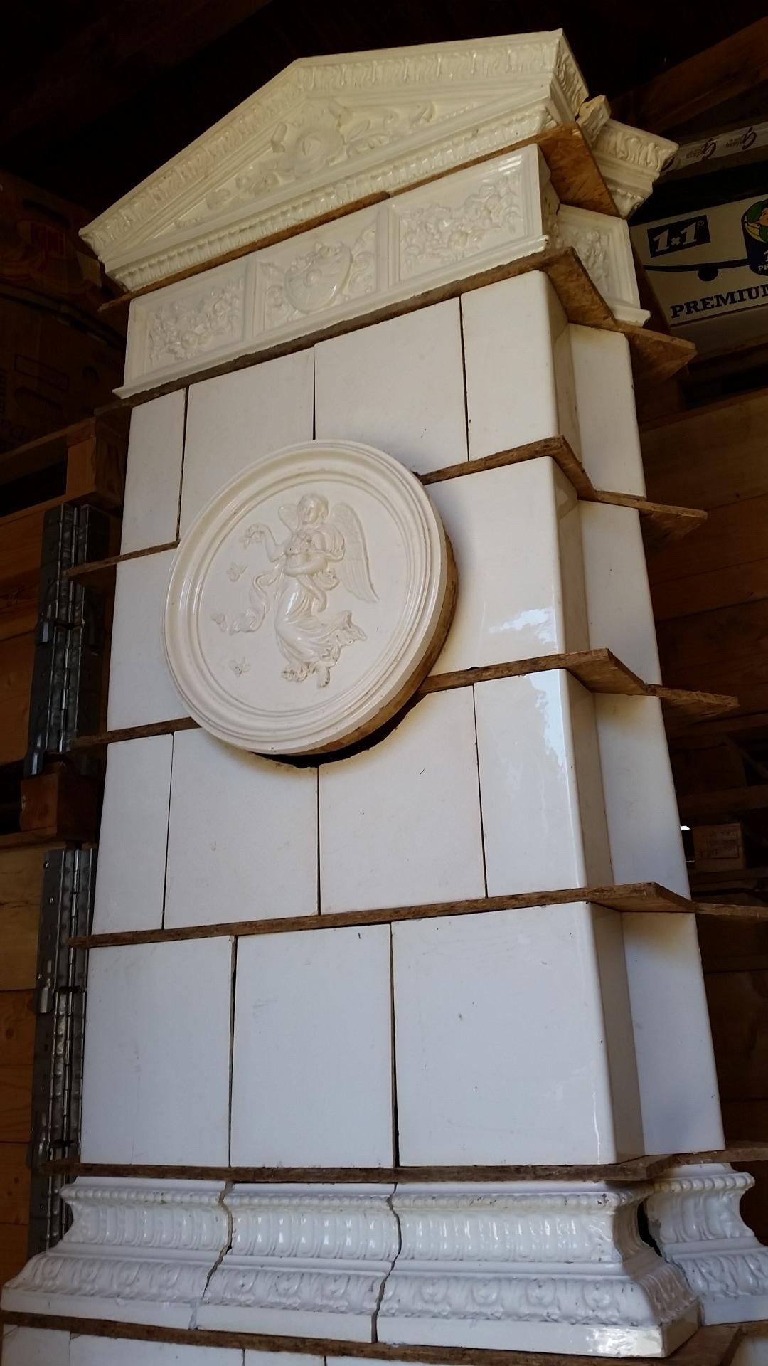 thumb4|Stufa antica bianca angolo, secolo 19, Hardmuth