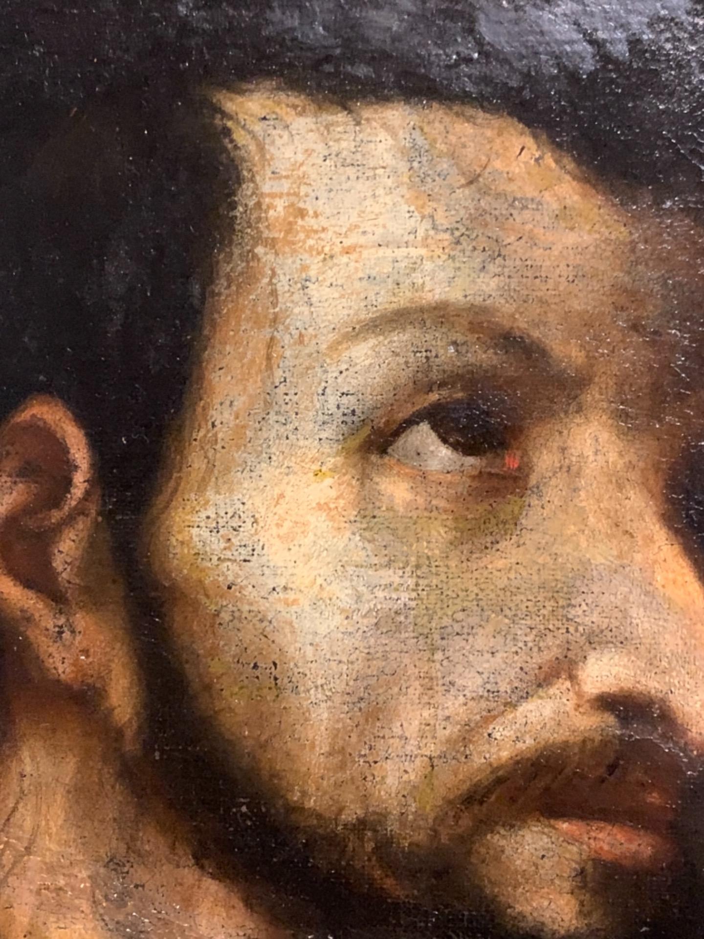 thumb3 Giuda Taddeo Apostolo - Scuola lombarda XVII secolo . Cm 77 x62