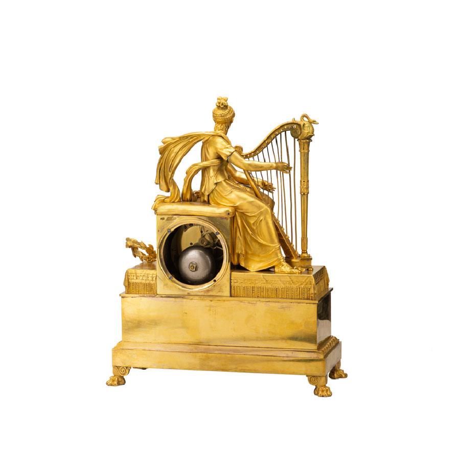 thumb2 Orologio da appoggio francese in bronzo dorato al mercurio
