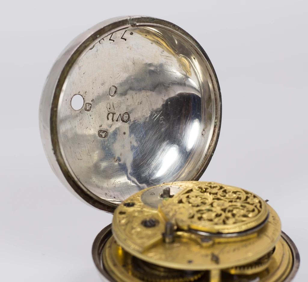 thumb2 Orologio da tasca antico in argento , Londra 1797
