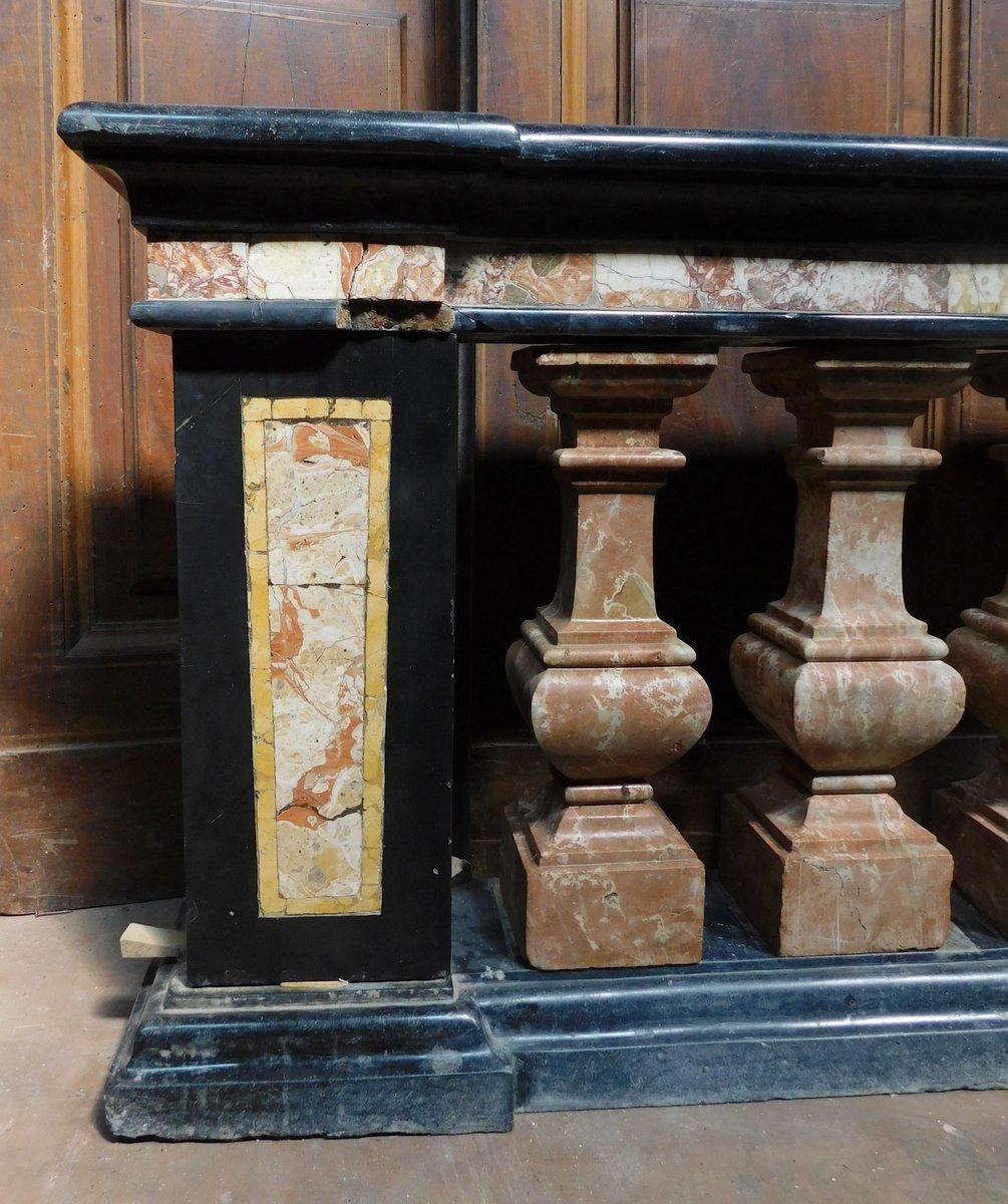 thumb4|dars400 - coppia di balaustre in marmo, cm l 158 x h 78 x p. 35