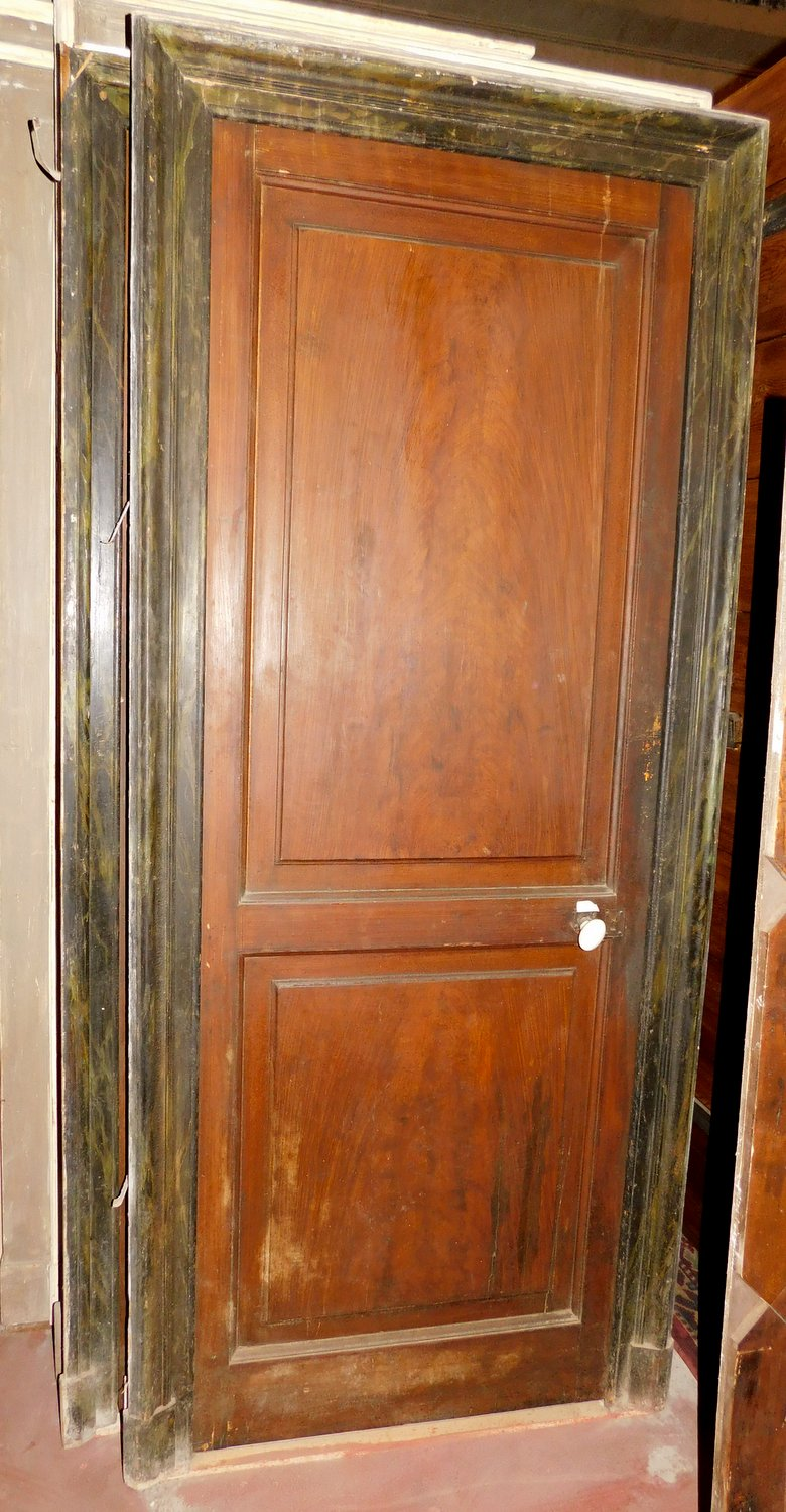 Pts664 N 5 Small Doors With Frame Total External Measure 90 X 205 Cm 19th Century Antiques On Anticoantico