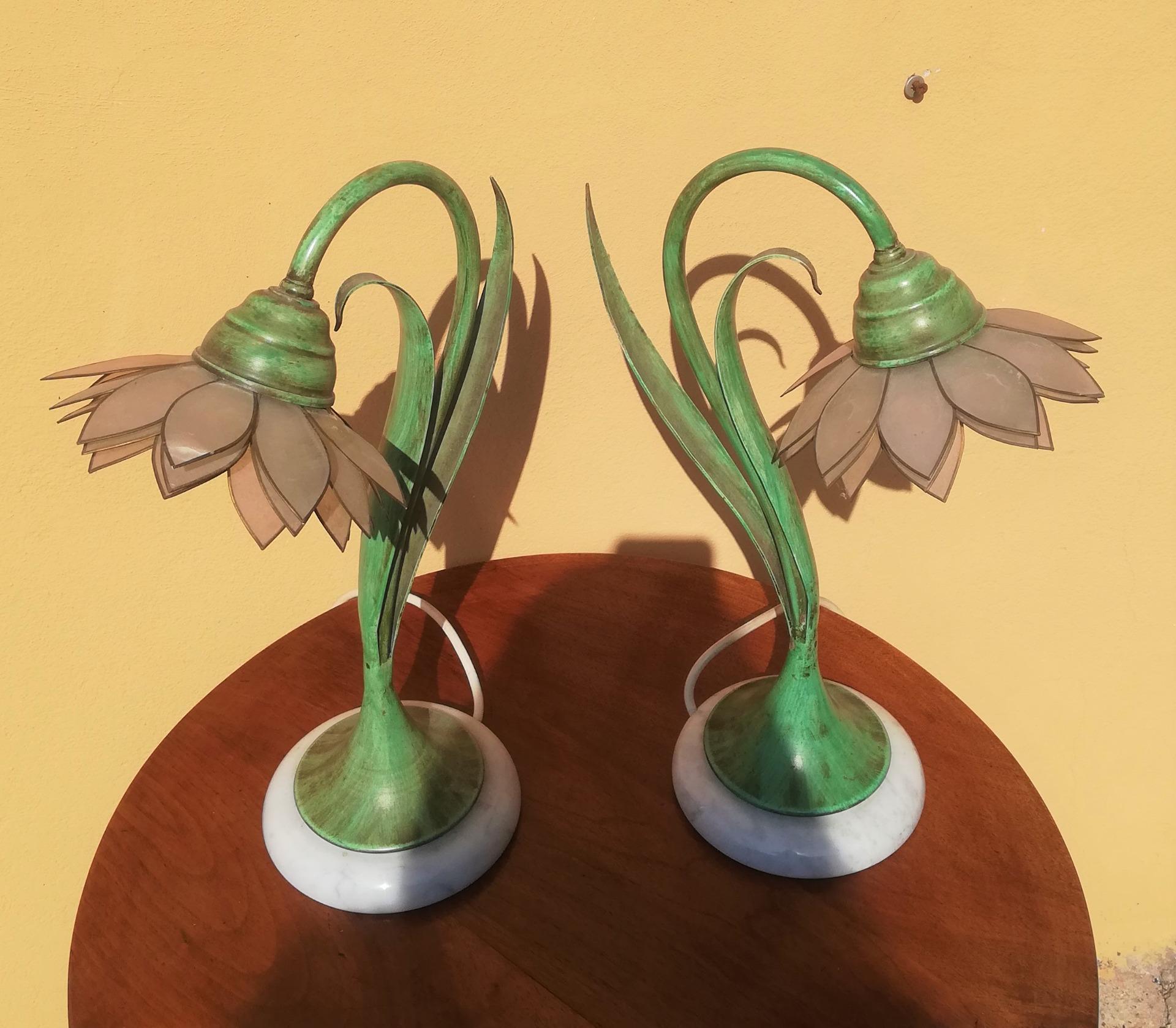 thumb2 coppia di lampade vintage