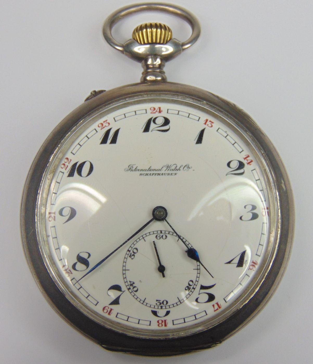 Orologio da tasca in argento International Watch Co. fine '800