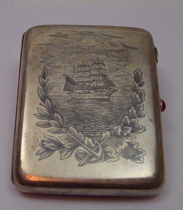 69ee3b7159 Portasigarette in argento niellato   Antiquariato su Anticoantico