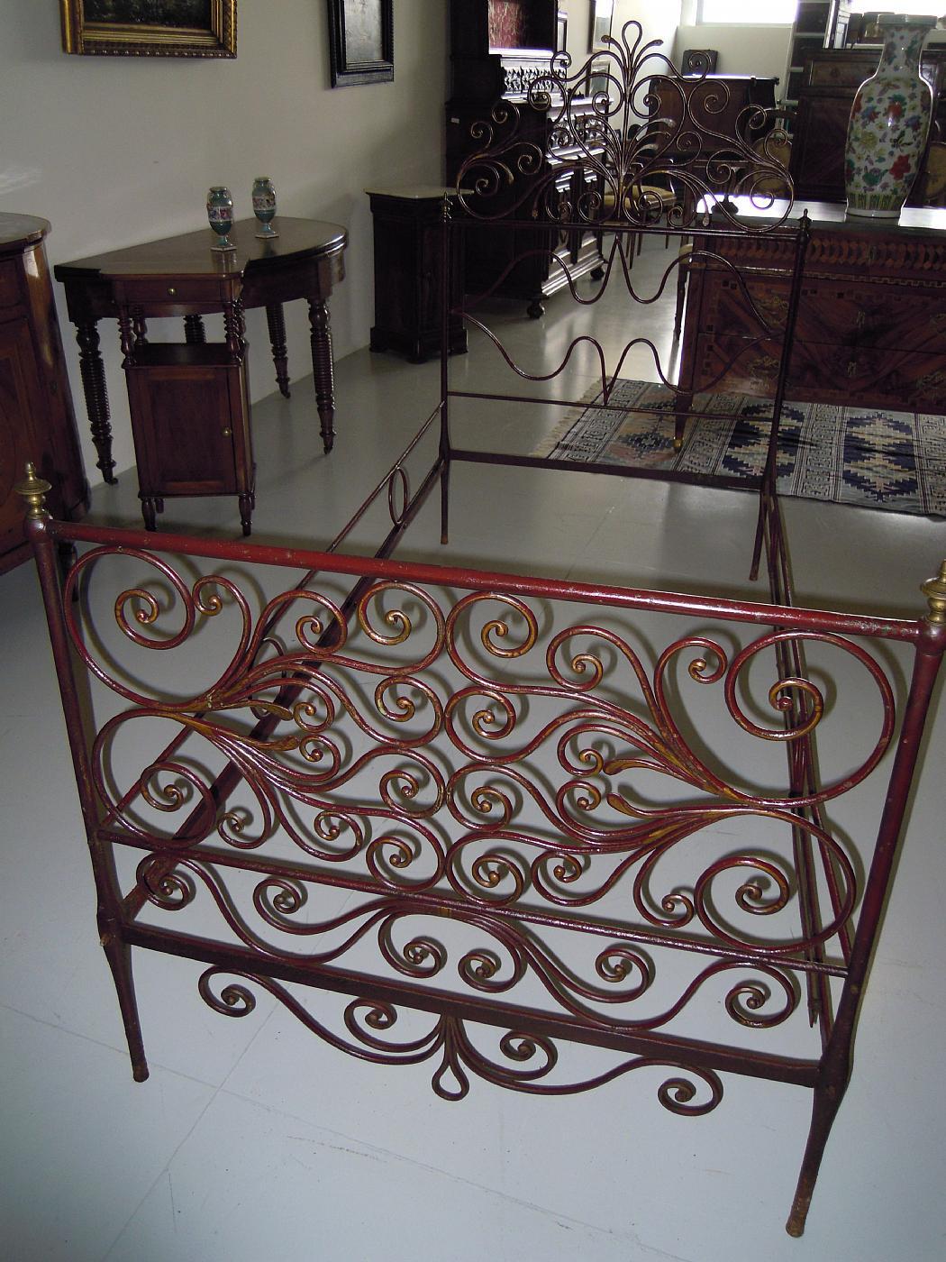 letto in ferro battuto genovese | Antiquariato su Anticoantico