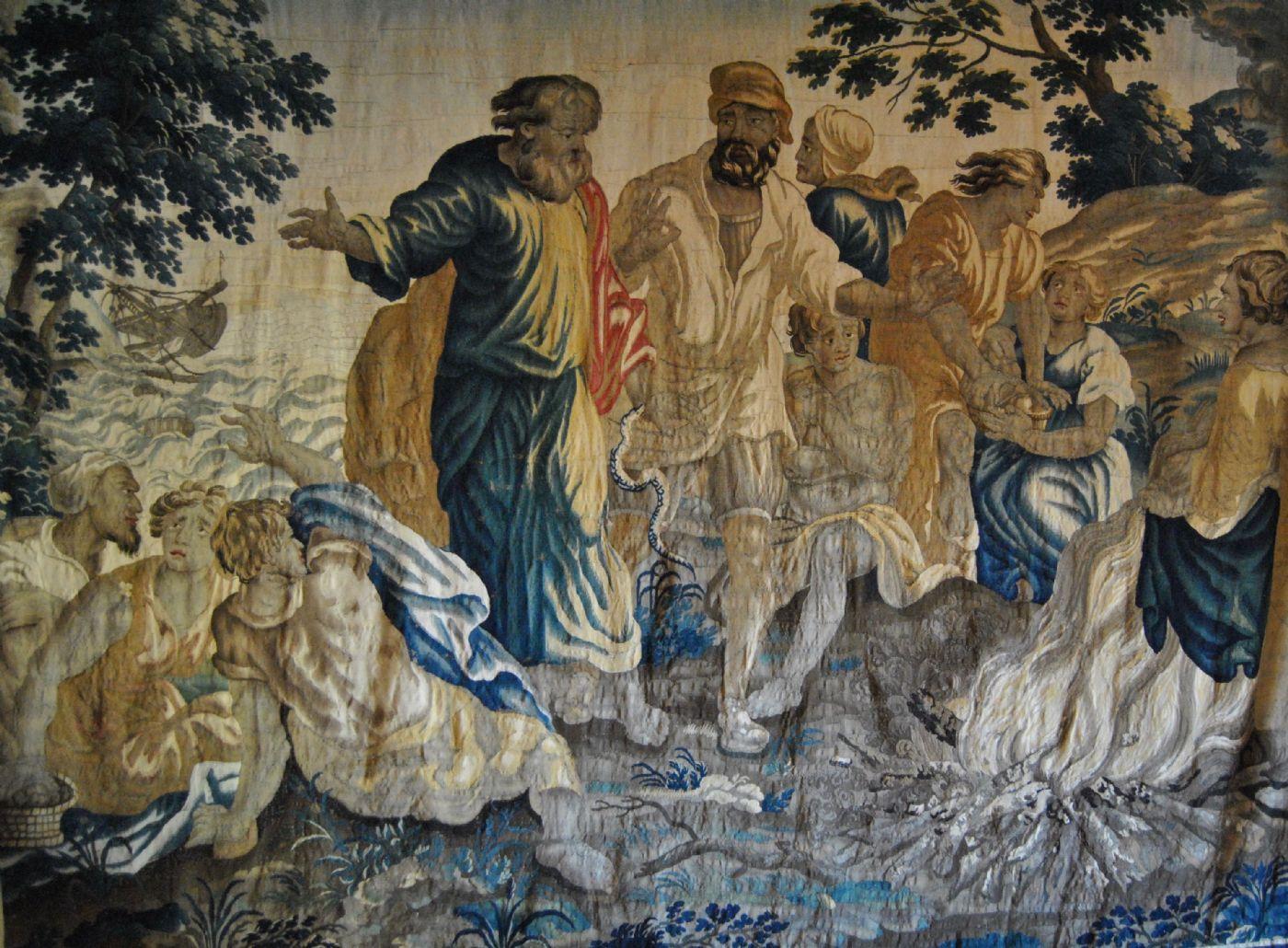 Arazzo della manifattura di Bruxelles, episodio della vita di San Paolo, cm. 280 x 360