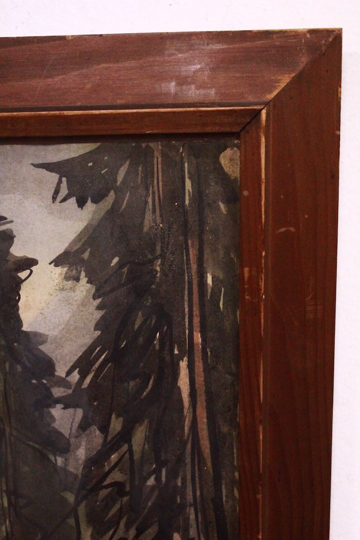 thumb5|Quadro acquerello su carta watercolor raffiguante paesaggio landscape art signed