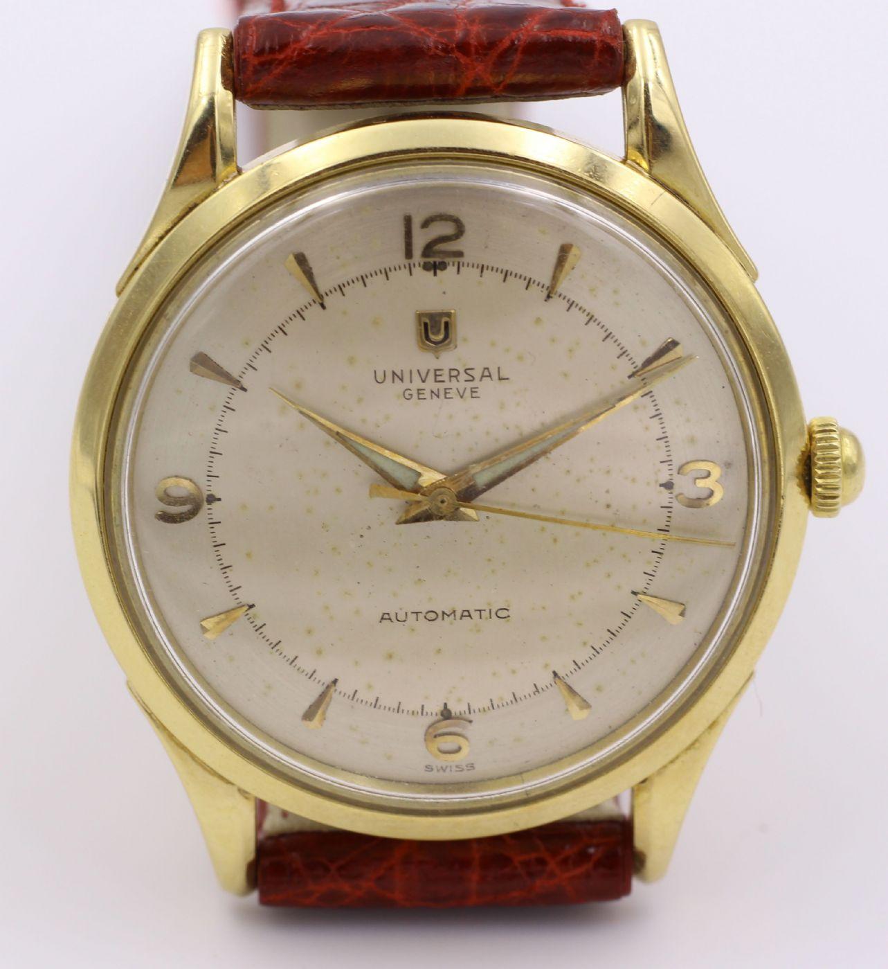 Saldi 2019 spedizione gratuita cerca l'originale Universal Universal Geneve wrist watch (bumper) in 18k gold ...