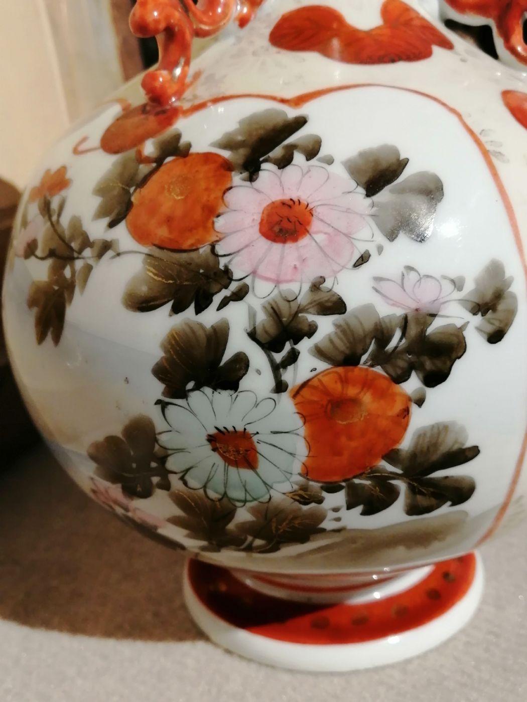 thumb7|Vaso giapponese dell'800 in ceramica dipinta