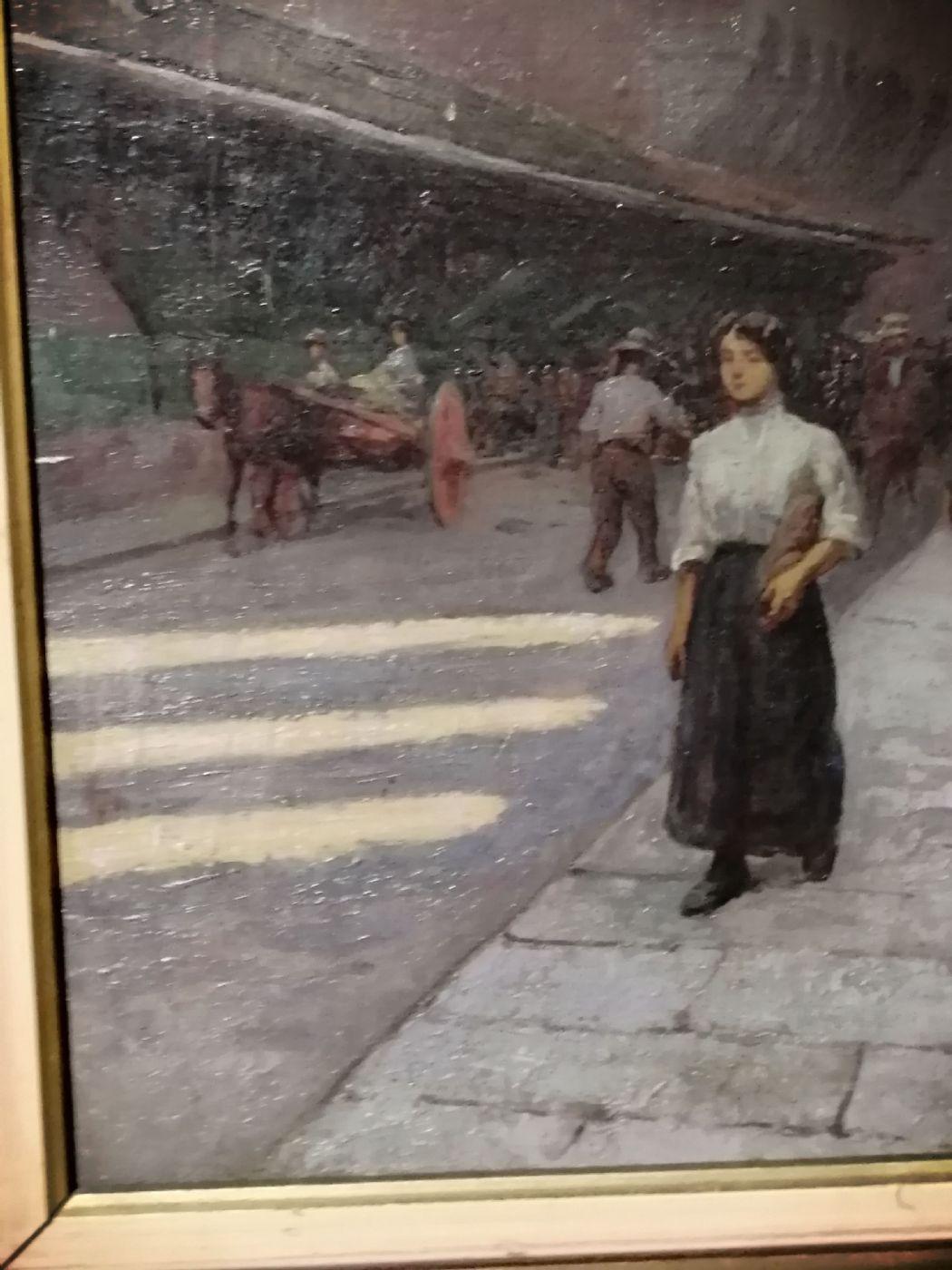 thumb3|Anacleto Della Gatta (Sezze 1868 - Carmignano 1932) - Ponte Vecchio fine '800 primo '900  - Dipinto firmato