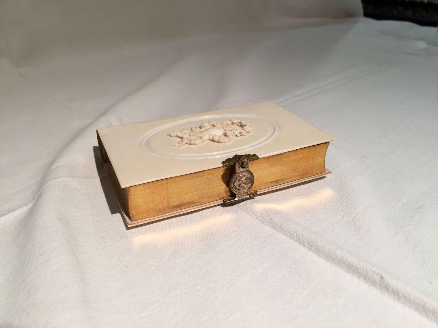 thumb4|Libro con copertina in avorio, 1864