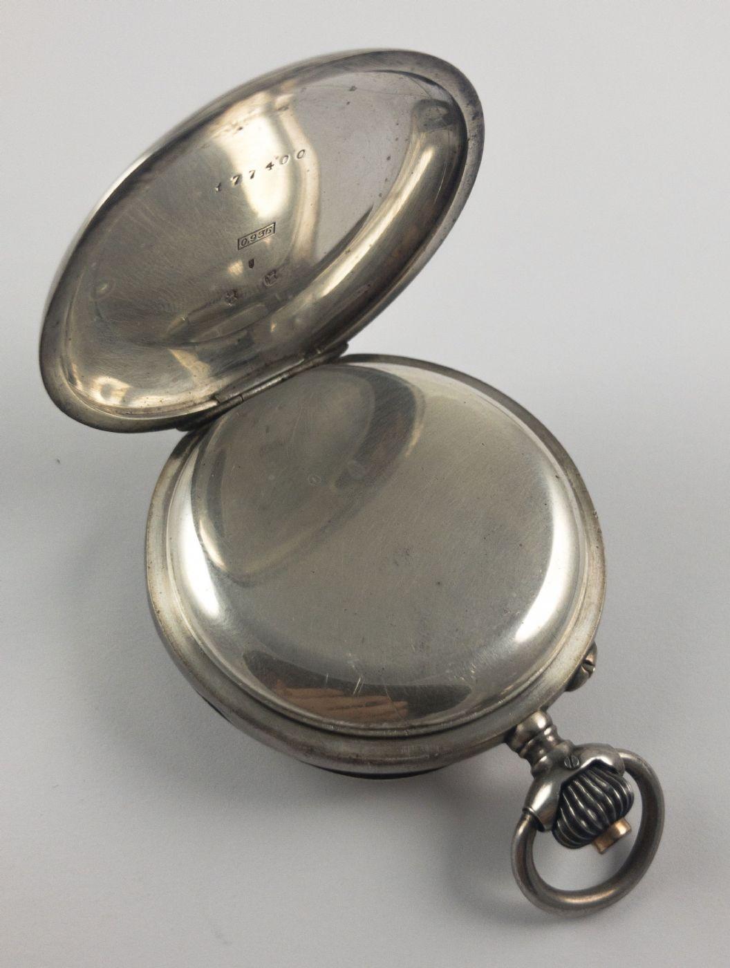 thumb3|Orologio da tasca cronografo in argento, fine 800